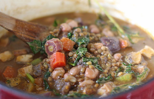 Healthy, Hearty Vegan Vegetable Lentil Stew
