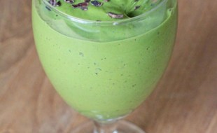 vegan matcha mint chip green smoothie recipe