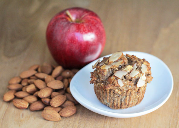 Almond Apple Cinnamon Muffins