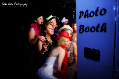 The bride and groom brought in a Photo Booth for the guests to have some fun. The photos also doubled as a creative guest book!