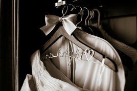 The handmade personalized wedding dress hangers