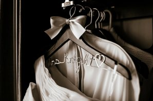The handmade personalized wedding dress hangers