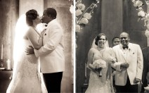 """The first kiss following their """"I dos"""" and introduction as husband and wife. Porsha's gown was from the David Tutera Mon Cheri collection."""
