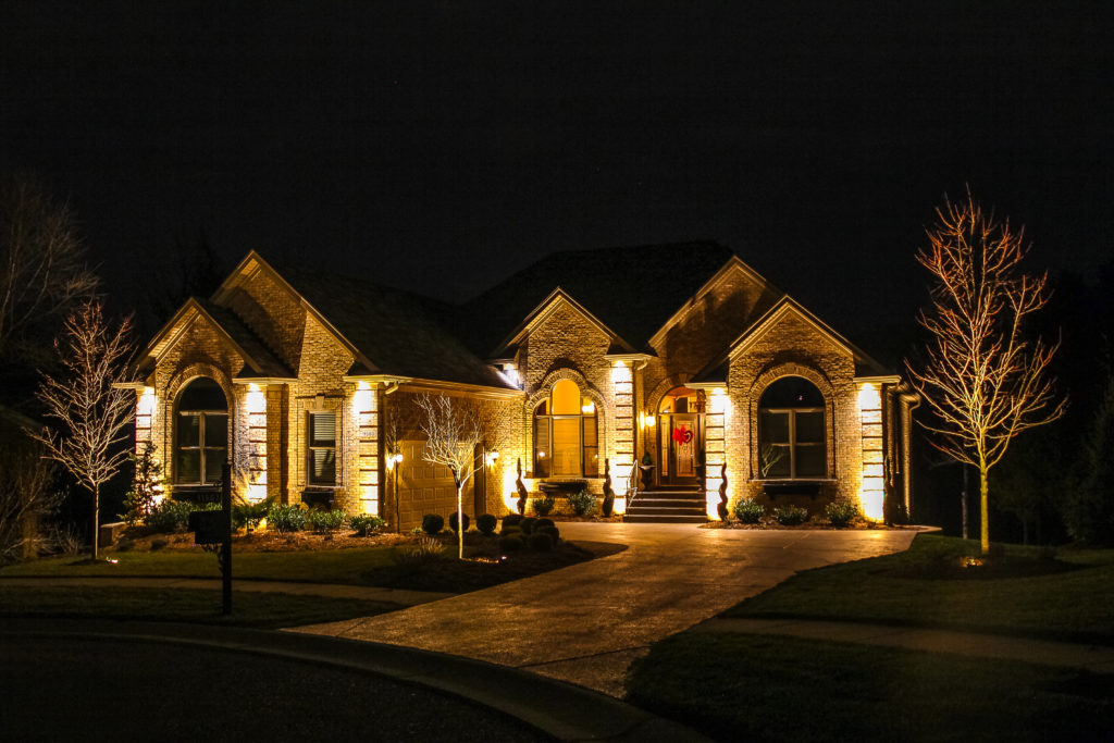 landscape lighting wired and solar