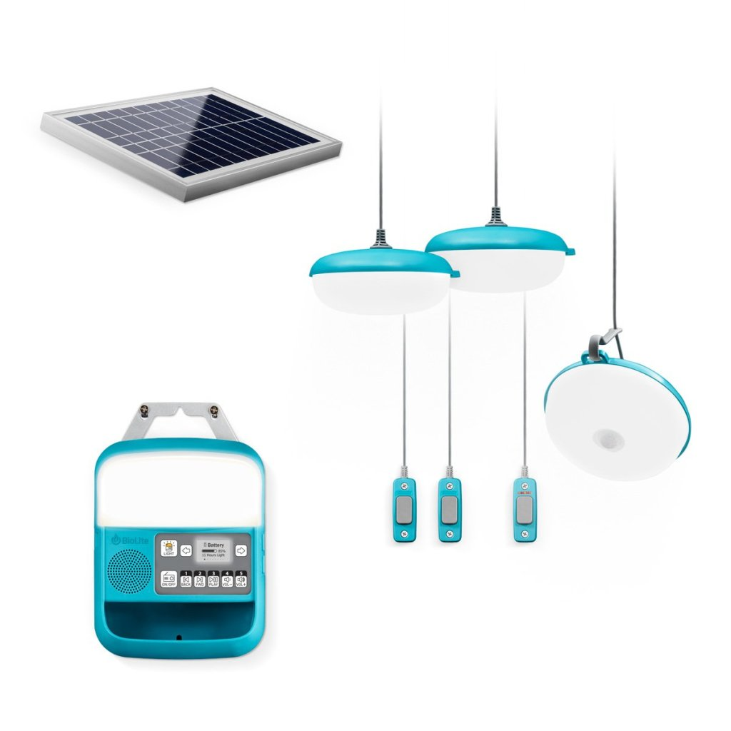 BioLite Solar Home 620, system complete with radio, to provide light, charging, and information to you and your family or business