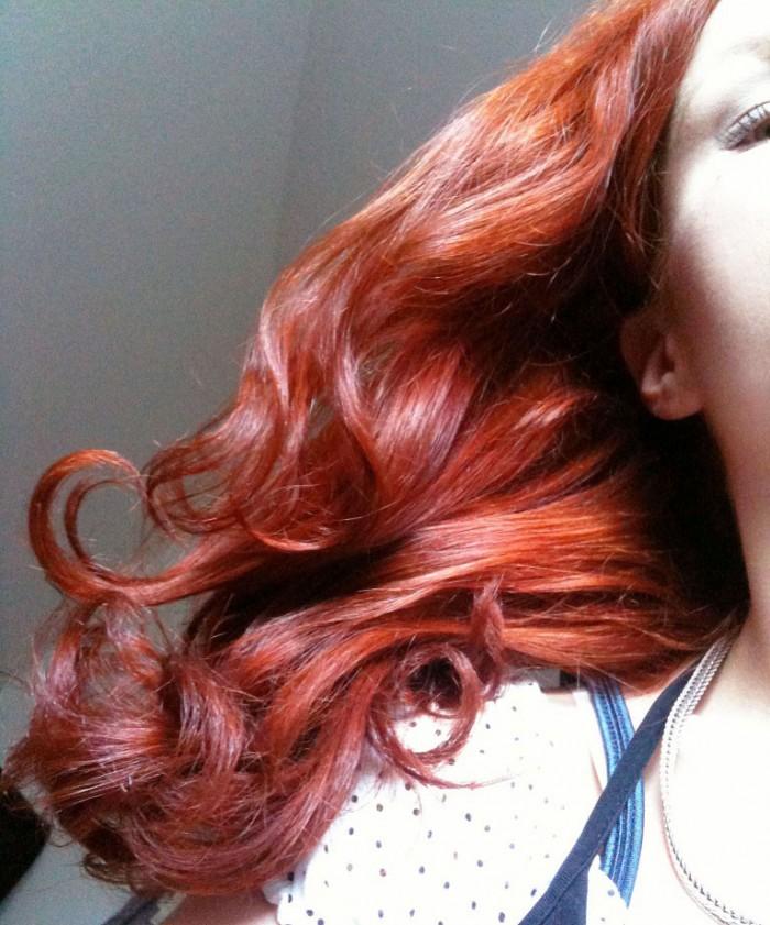 Haare überfärben gefärbte rot Rottöne haare