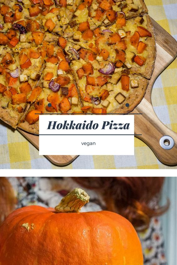 Hokkaido Pizza Kürbis vegan Pinterest