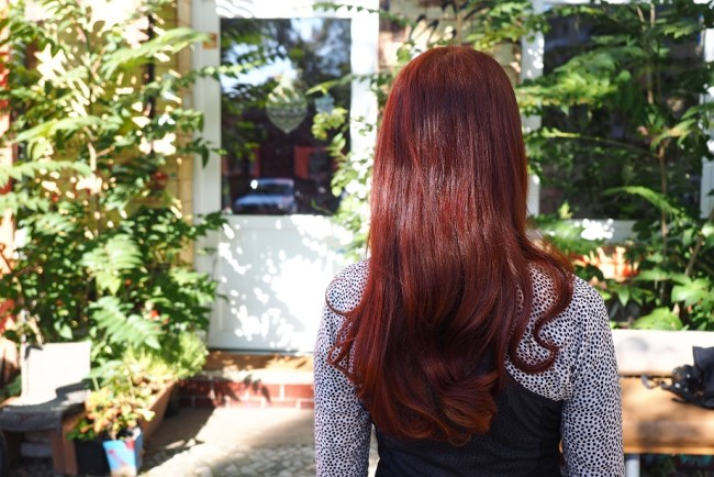 Light Mountain Bright Red Henna Haare hair