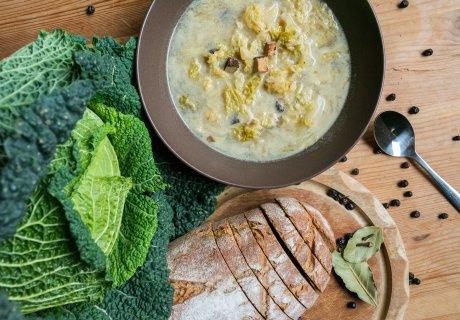 Wirsingsuppe vegan Rezept wie bei Oma