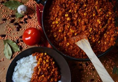 Chili-sin-Carne-vegan-Reis