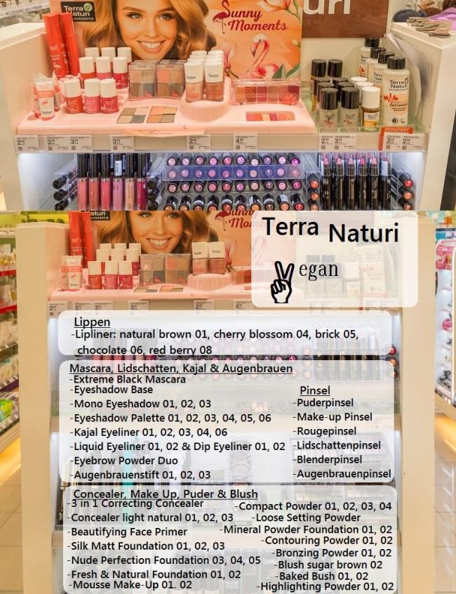 Terra Naturi Naturkosmetik Theke vegane Produkte