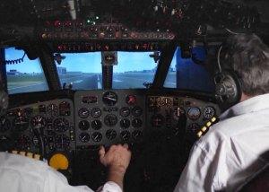 Restored Comet airliner flight deck