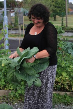 Dee Sewell at Callan Community Garden
