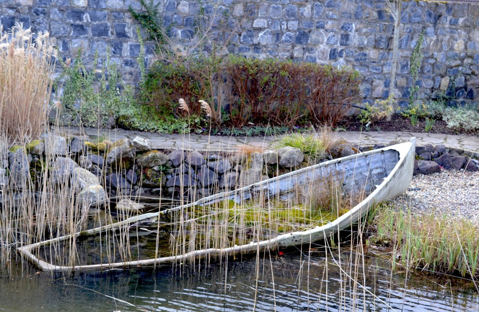Old Boat in the Delta Centre Sensory Gardens, Carlow
