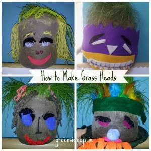 Gardening With Kids - How to Make Grass Heads