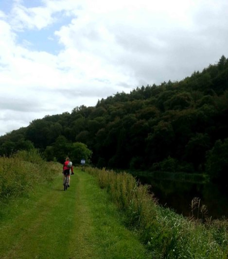 The grassy towpath along the River Barrow