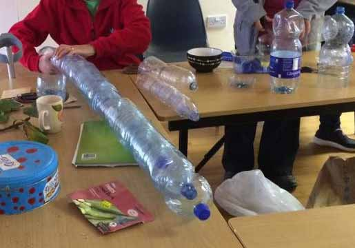 Making the Plastic bottle greenhouse