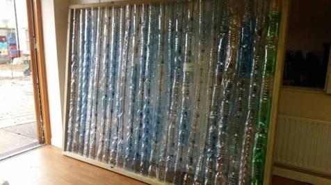 Plastic bottle greenhouse side wall