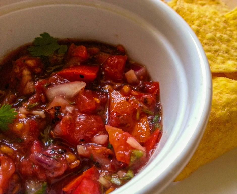 Spicy Salsa made from food grown in an Irish garden