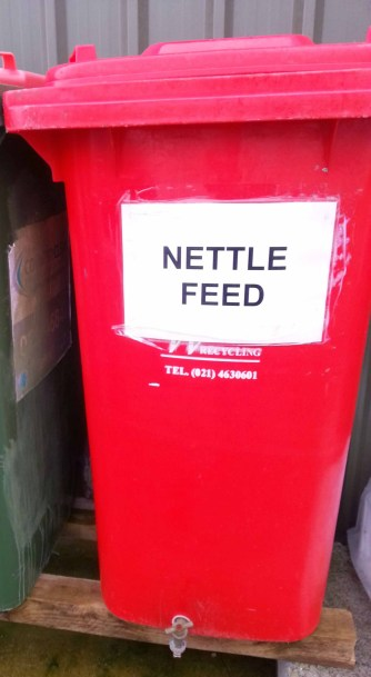 Nettle Feed Container at Wishing Well at Knocknaheeny Community Garden