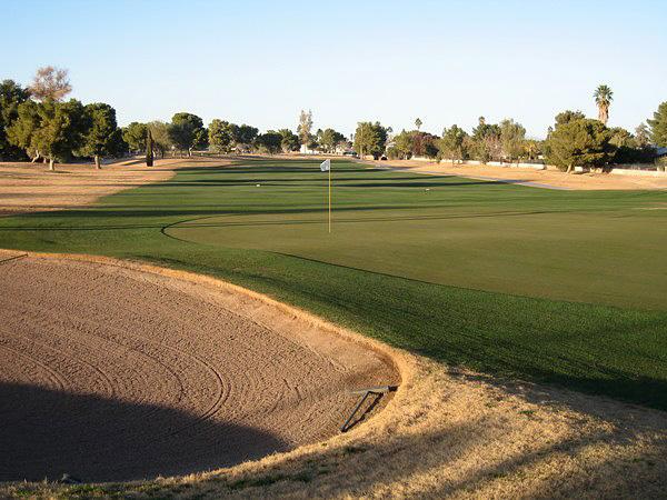Ken McDonald Golf Course Tempe Arizona. Hole 18 Par 4