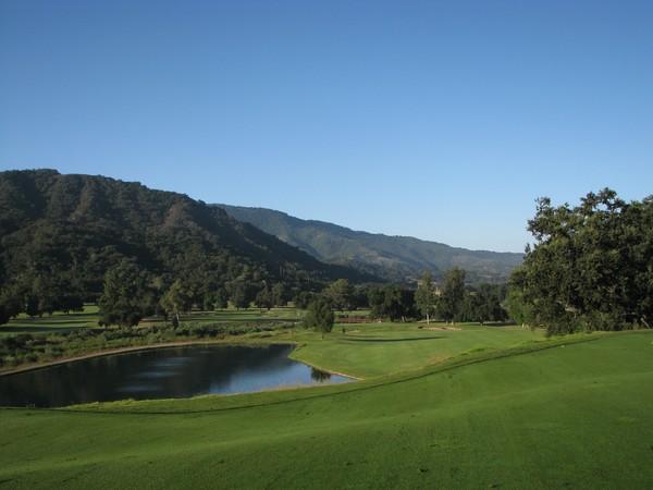 Soule Park Golf Course Ojai California Hole 1