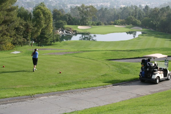 Industry Hills Golf Club EISENHOWER City of Industry California Hole 2 Tee Box -- Great View
