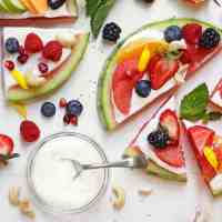 Watermelon Pizza & How To Make Homemade Cashew Cream Yogurt