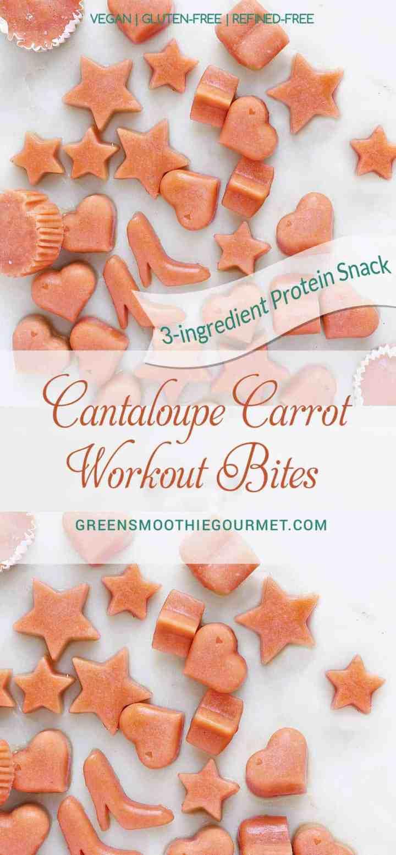 3-Ingredient Cantaloupe-Carrot Pre-workout Protein Bites