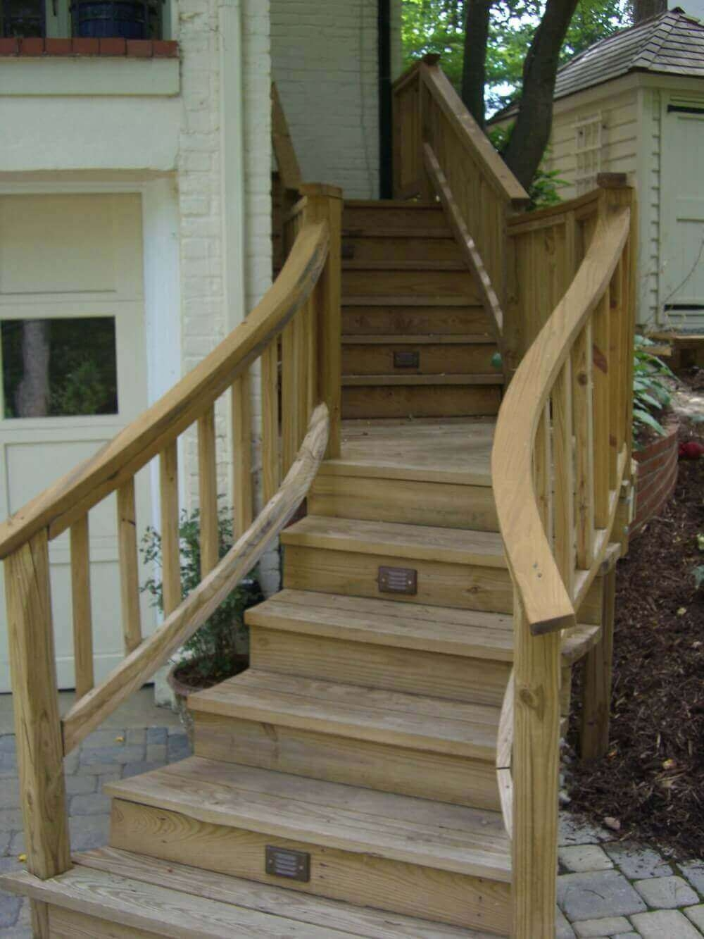 Seattle Deck Design Installation Landscape Contractor | Staircase Contractor Near Me | Basement Stairs | Stair Case | Stair Parts | Yelp | Stamped Concrete