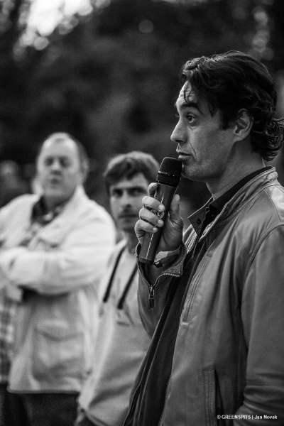 Sébastien Bernard lors de son discours à la fête du spit #2 2017 Vice président du parc des baronnies provençales
