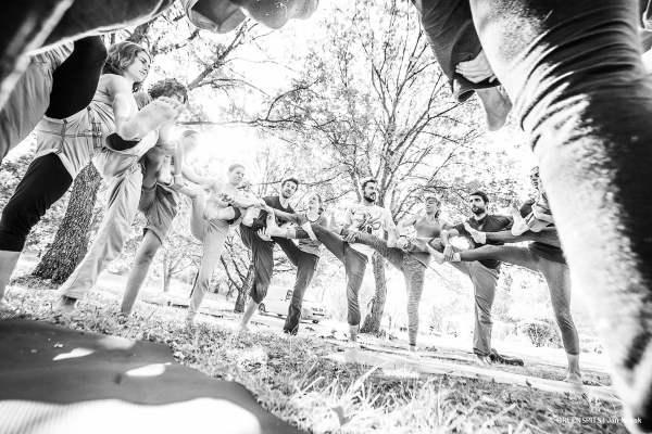 atelier yoga avec Valérie Tribout à la fête du spit #2 2017