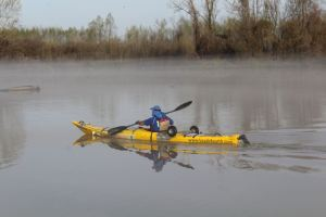 Steve Posselt in Kayak
