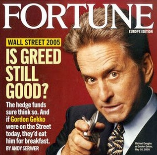 Gekko on Fotrune Mag, 2005. Sociopathy and Corporate Hegemony