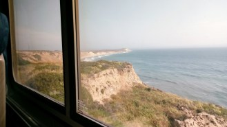 View from train, north of Santa Barbara