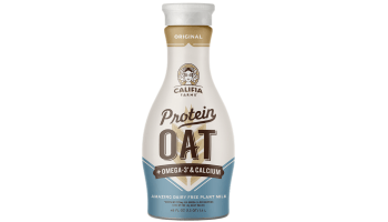 Califia Protein Oat Milk - a bottle of the protein oat milk from Califia Farms is shown.