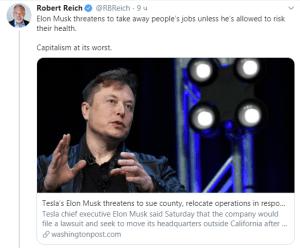 Обновление. Илон Маск и Tesla объявляют войну чиновникам-спекулянтам от партии коронаБесия. И ругается по-русски... )))