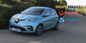 Во Франции создано новое партнёрство по переработке аккумуляторов электромобилей в составе Renault, Veolia, и Solvay