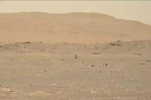 Представлены кадры Первого полёта электрического вертолёта Ingenuity на Марсе. Всё получилось!
