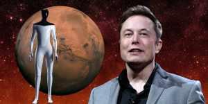 Марс, Илон Маск и андроид Tesla Bot