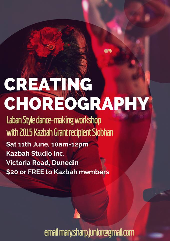 Creating Choreography - Laban Style. Workshop with Siobhan in Dunedin, New Zealand, 2016.