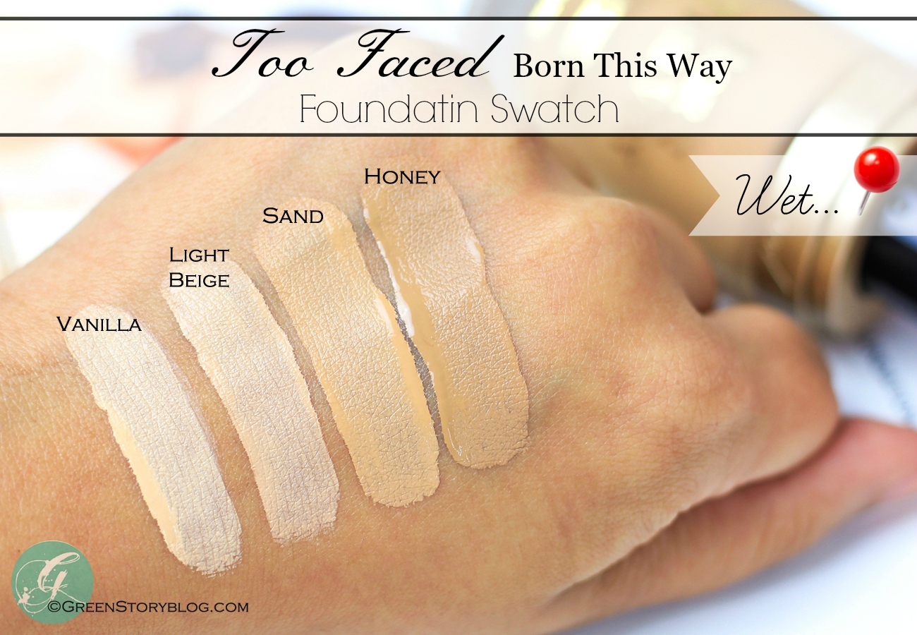 too faced born this way foundation review swatch and comparison