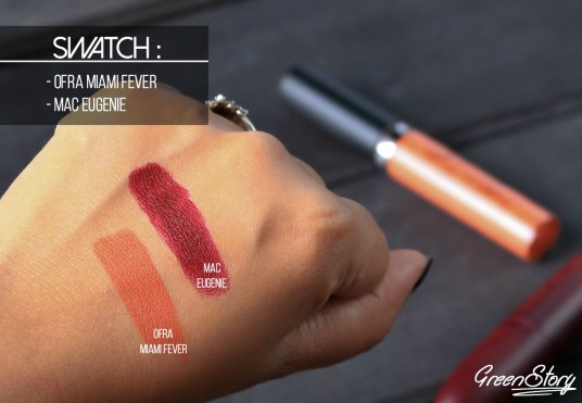 Ofra Miami Fever & MAC Eugenie Swatch