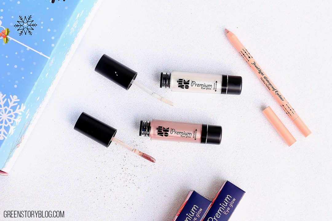 Amiok Premium Eye Glow and Holika Holika Waterproof Eye Liner