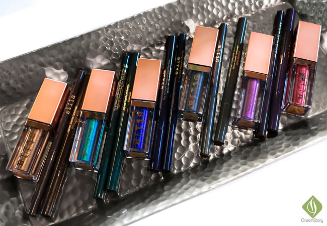 stila vivid & vibrant collection | stila shimmer and glow liquid eyeshadow and eyeliners