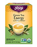 Yogi Tea, Energy Green, 16 Count (Pack of 6), Packaging May Vary