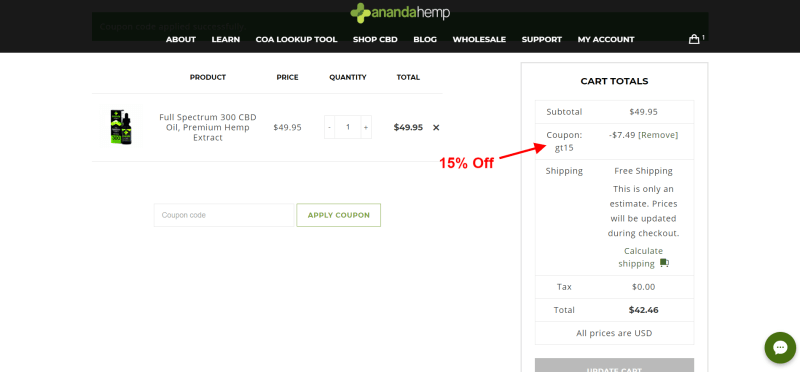 Ananda Hemp Coupon