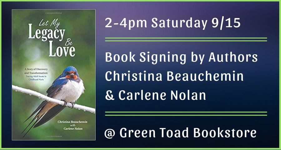 Book Signing by Christina Beauchemin & Carlene Nolan
