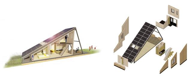 Solar Cabin perspectiva explodida