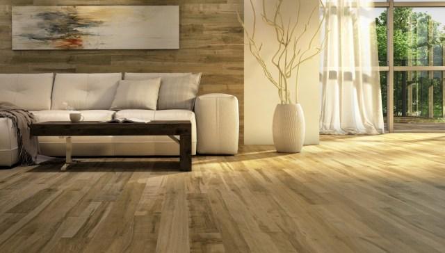 Piso de madeira certificada. (Fonte: Lauzon Flooring).